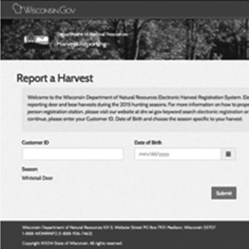 Harvest Registration