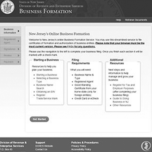 New Jersey Business Formation/Registration Service
