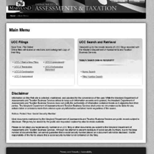 Maryland Uniform Commercial Code Online System